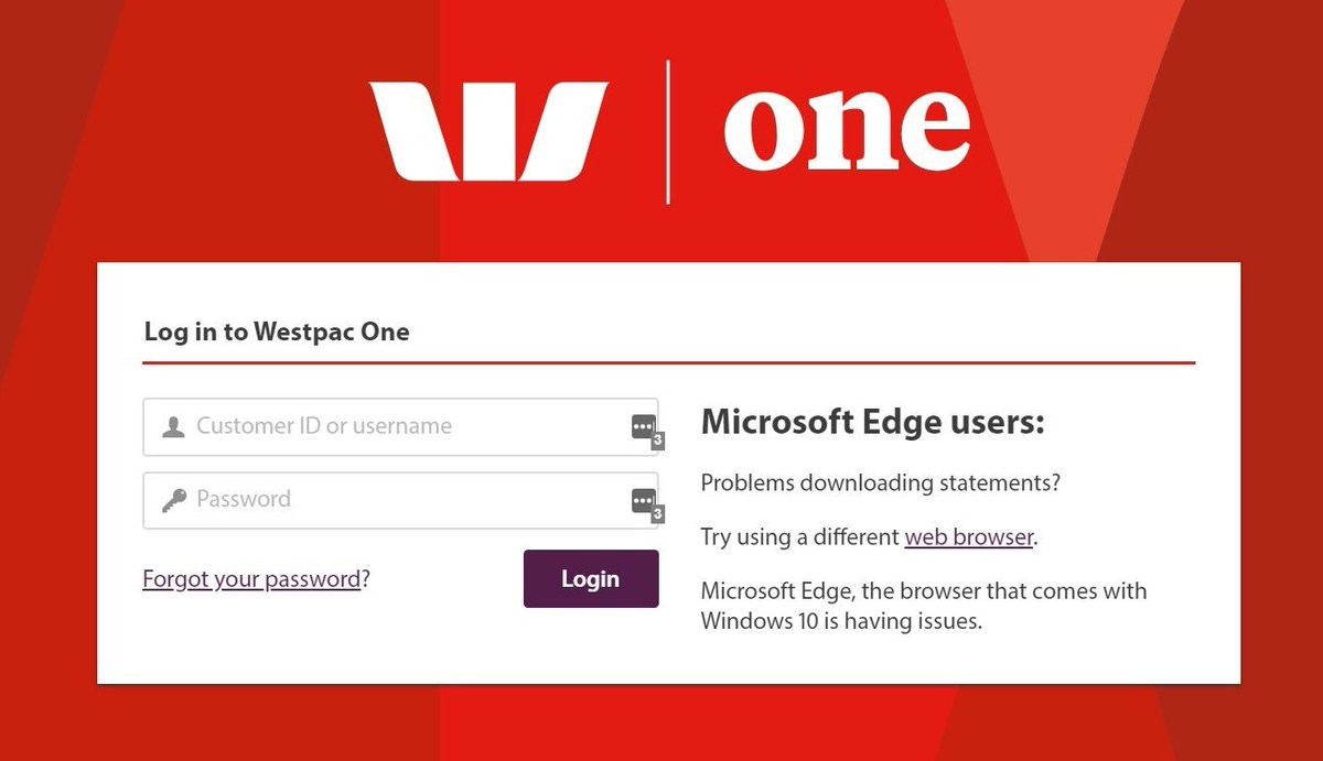 Hey @WestpacNZ shame to see you are having issues with our friends at @MicrosoftEdge the new Edge is coming soon but they may be able to work out the issues with the current version of Edge