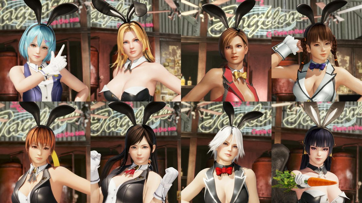 #DOA6 sexy bunnies costumes are available in Australia PlayStation Store already, but Season Pass 3 not yet. 🤔Individual samples just when the set is available in Live or in Japan PS store. 🤷