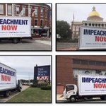 Image for the Tweet beginning: The Impeachment Now Truck really