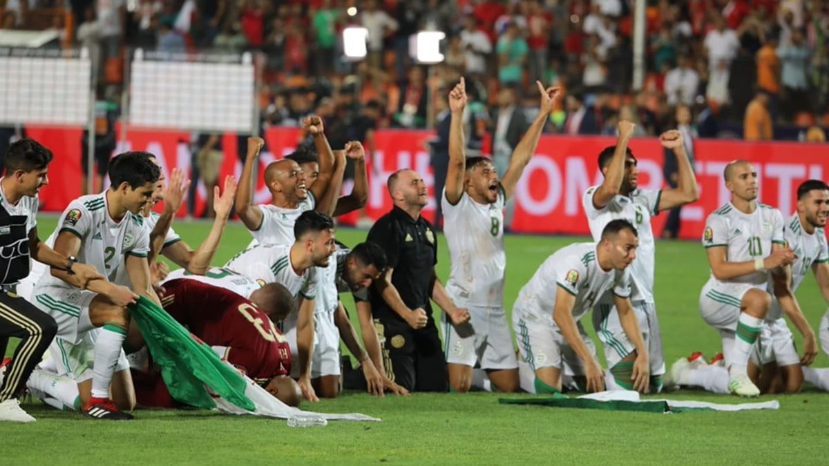 """Belmadi on Mahrez at #AFCON2019: """"He performed the role of captain with great elegance. He was a very effective member of the team & vitally important in building attacks. He scored & was always present at difficult times. What we saw was a star who deserves all the plaudits."""" <br>http://pic.twitter.com/Uh3SBWSlJF"""