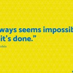"""Image for the Tweet beginning: """"It always seems impossible until"""