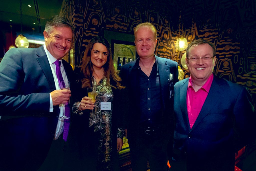 Catching up with some of my favourites at last weeks @businessawards Leader of the year screening @BBCSimonMcCoy @JoeBLynam @declancurry , I'm sure we can find an excuse to have lunch in Mayfair soon?