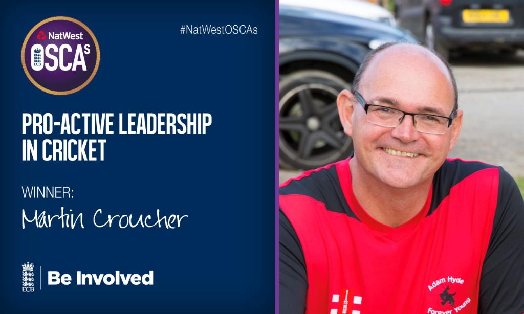 "Congratulations Martin Croucher! 🎉""If something needs doing, he will do it!""@St_Warboys #NatWestOSCAs 🏏"