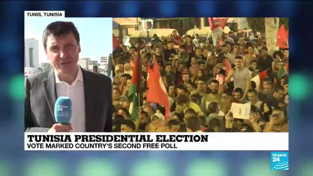 ?? Conservative professor Saied wins Tunisia presidential election, exit polls say