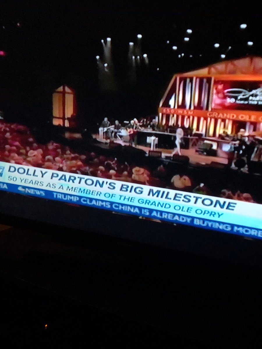 Dolly Parton celebrates 50 Grand Ole Opry we love you Dolly ♥️