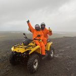 Image for the Tweet beginning: Iceland was amazing!We chased waterfalls,snowmobiled