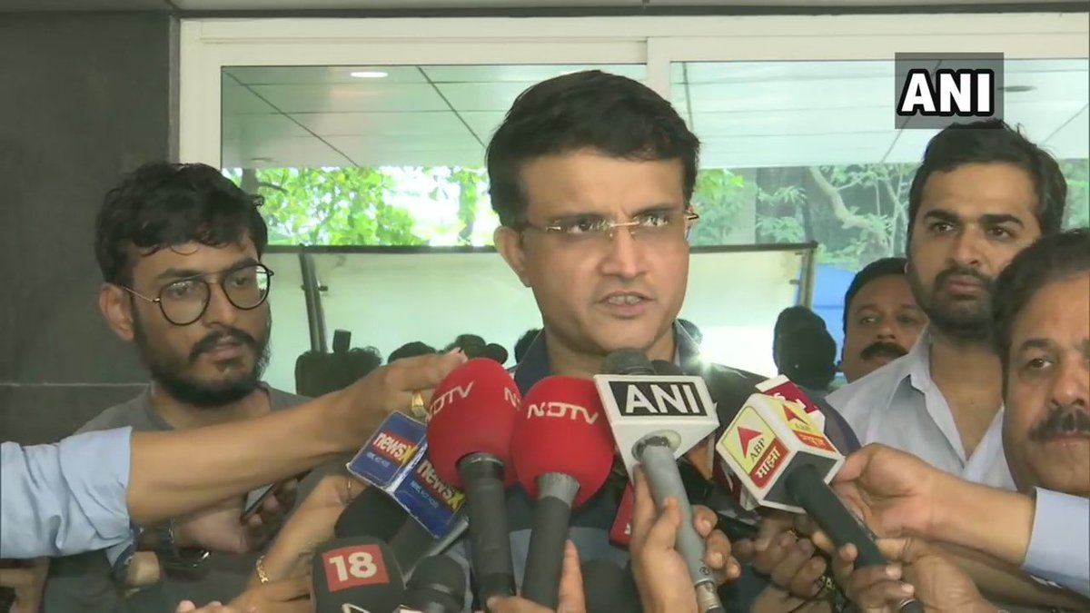 Sourav Ganguly after filing his nomination for post of BCCI President, in Mumbai: To be in a position where I can make a difference along with team would be extremely satisfying. Hopefully in next few months we can put everything in place & bring back normalcy in Indian cricket. <br>http://pic.twitter.com/s3FGUa11r9