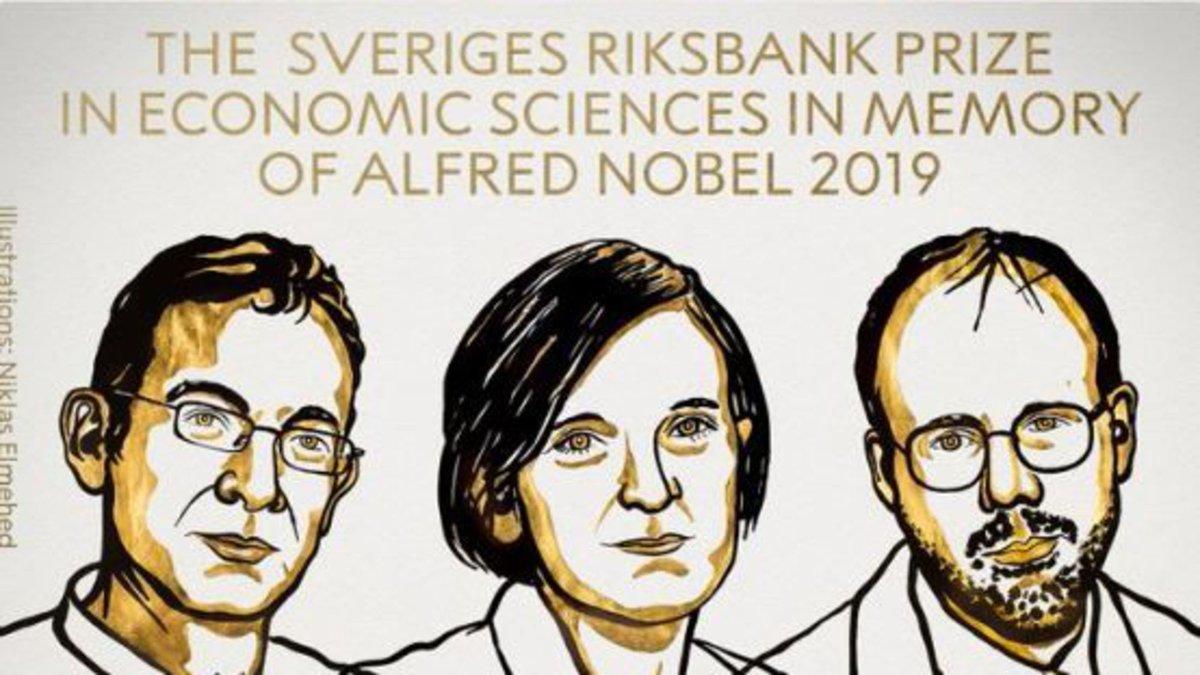 Esther, Abhijit & Michael !!! 🍾🍾🍾 Infiniment heureuse que ces trois grand.E.s économistes, amis et collègues, soient récompensés pour leurs travaux ! Ils ont fait grandement avancer la recherche sur la lutte contre la pauvreté. Des travaux indispensables et à continuer !