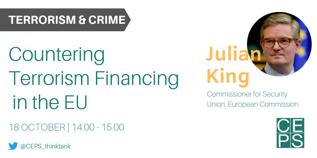 [EVENT] What are the current 🇪🇺 policies countering terrorist finances? Join the debate with @JKingEU and share your views on the main challenges and discuss ways forward. 🔗 bit.ly/32gW17k . . #SecurityUnion @EUHomeAffairs