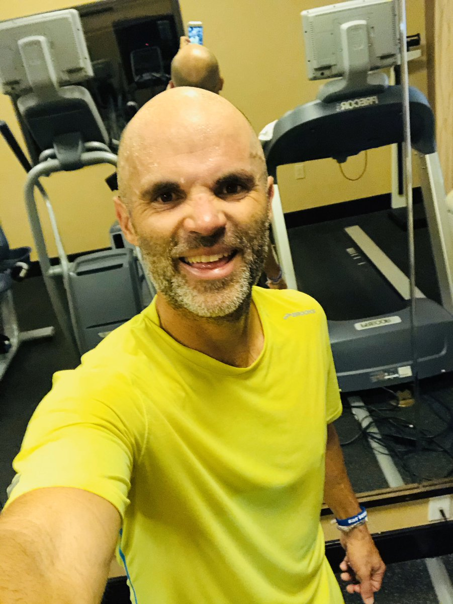 8 #RunLAP miles on the hotel treadmill, ready for the day with some Ohio educators - let's go! #KidsDeserveIt