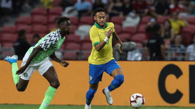 Neymar plays only 12 minutes as Brazil held by Nigeria