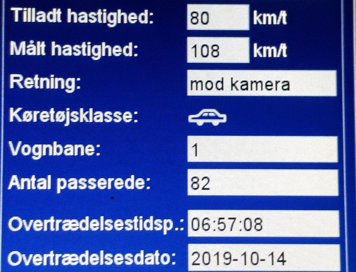 Endnu engang har fotovognen været på Kongeåvej i Vejen kommune og igen var der bilister der kørte for stærkt. 24 blev blitzet hvor den hurtigste kørte 108 km/t. Sænk farten så alle kommer sikkert frem, vi vil komme igen #atkdk  #politidk https://t.co/VgFYDHWvji