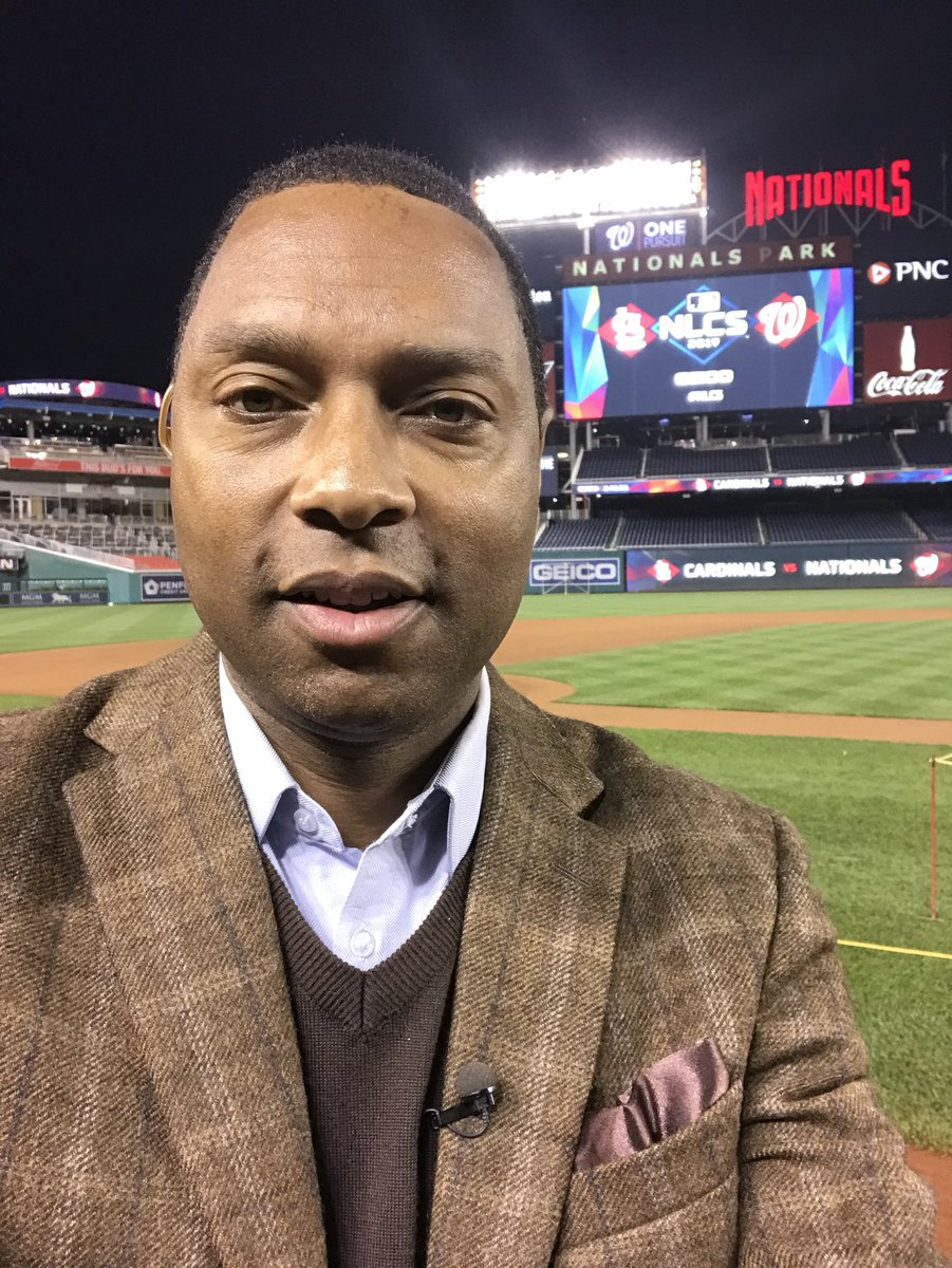 Getting ready for #mlbpostseason @Nationals up 2-0 at home v. @Cardinals #gooddaydc