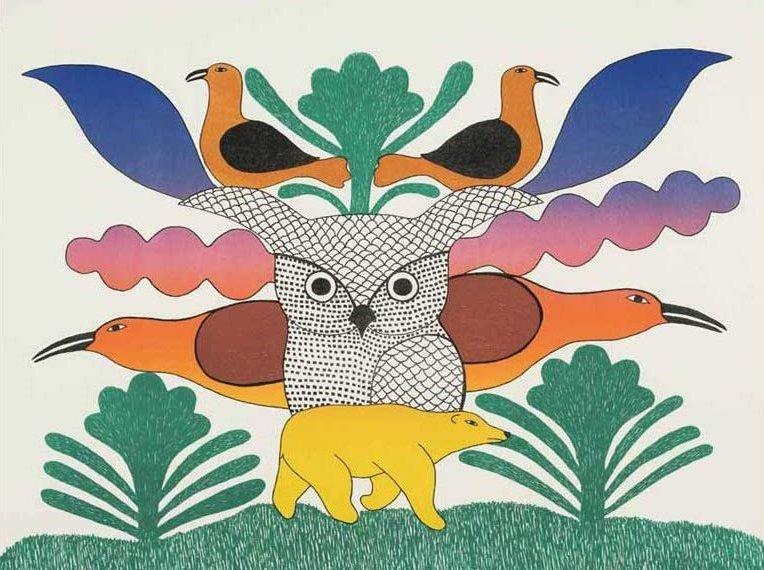 🎨Kenojuak Ashevak (Inuit artist, 1927 - 2013)
