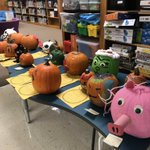 Image for the Tweet beginning: Book character pumpkins arrive @WellerPanthers