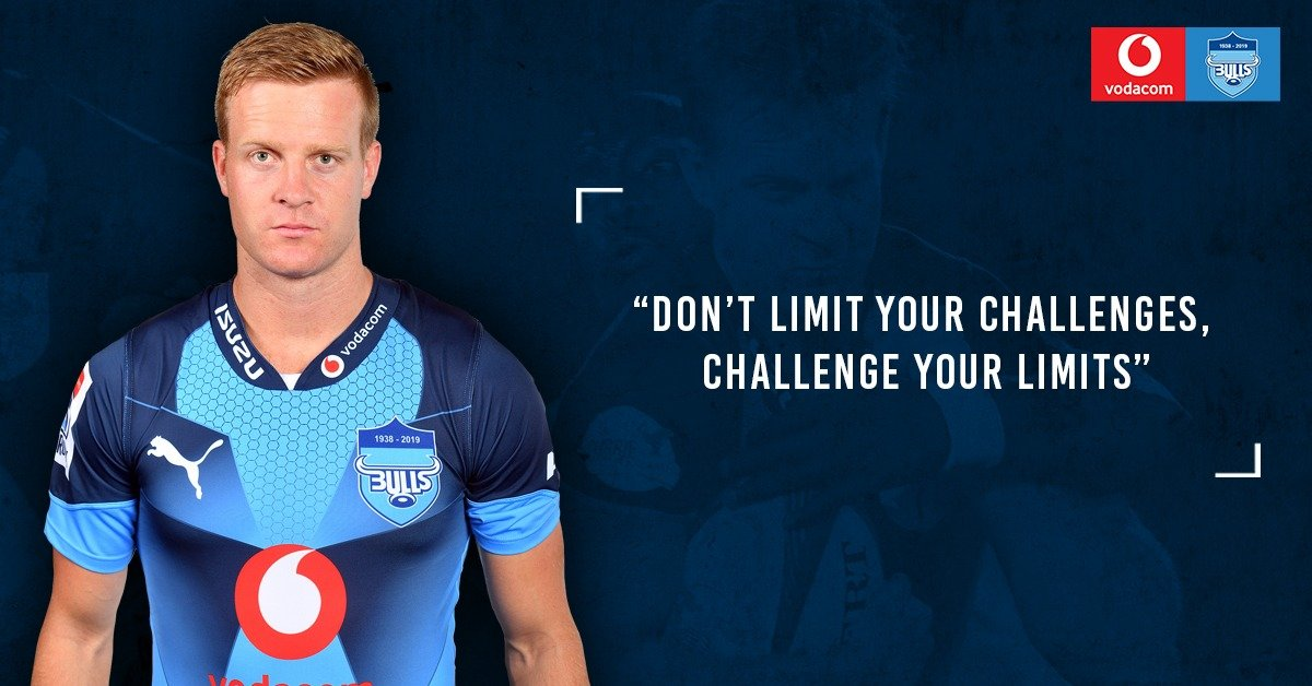 Our #MondayMotivation comes from Vodacom Bulls centre, Dylan Sage Don't limit your challenges, challenge your limits #BullsFamily
