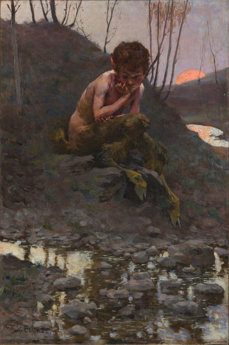 The Little Faun © Stanislovas Bohušas-Sestšencevičius (1869 - 1927)
