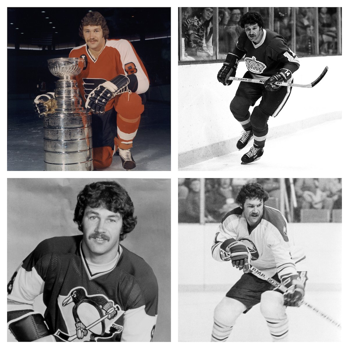 Happy 70th (!) birthday to @NHLFlyers legend Dave Schultz. Hammer's 472 penalty minutes in 1974-75, equal to almost 8 full games, seems forever unpunchable. Hammer's teams and one I took this past February in Philly #FlyOrDie #GoKingsGo #LetsGoPens #Sabres50