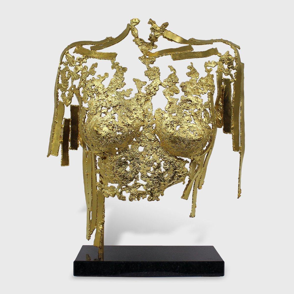 #sculpture de © Philippe Buil Bronze recouvert à la feuille or 24 carats