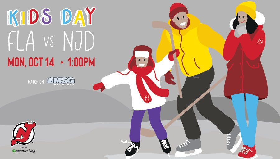 Replying to @NJDevils: It's Kids Day at The Rock!   PREVIEW ➡️