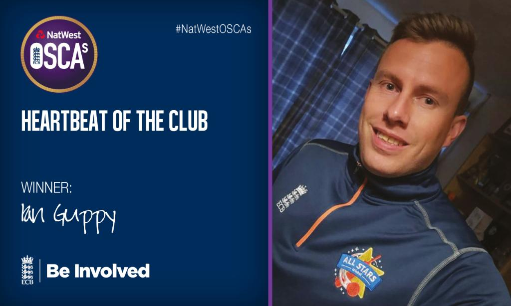 Congratulations to @AldwickCC's  Ian Guppy!Heartbeat of the Club winner ❤️#NatWestOSCAs 🏏