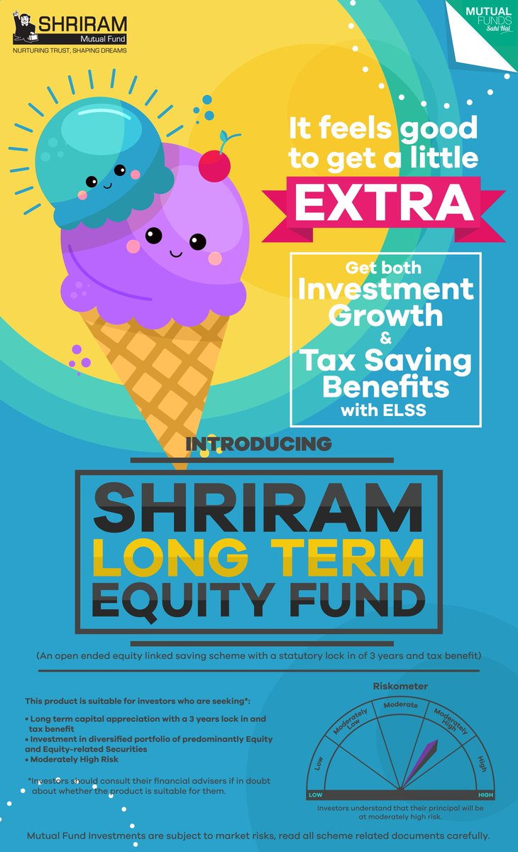 Through an #ELSS #fund, you can #invest in #equity and receive tax #saving #benefits under #Section #80C of #Income #Tax #Act, 1961.  To know more, visit: https://shriramamc.com/Product-LTE.aspx…