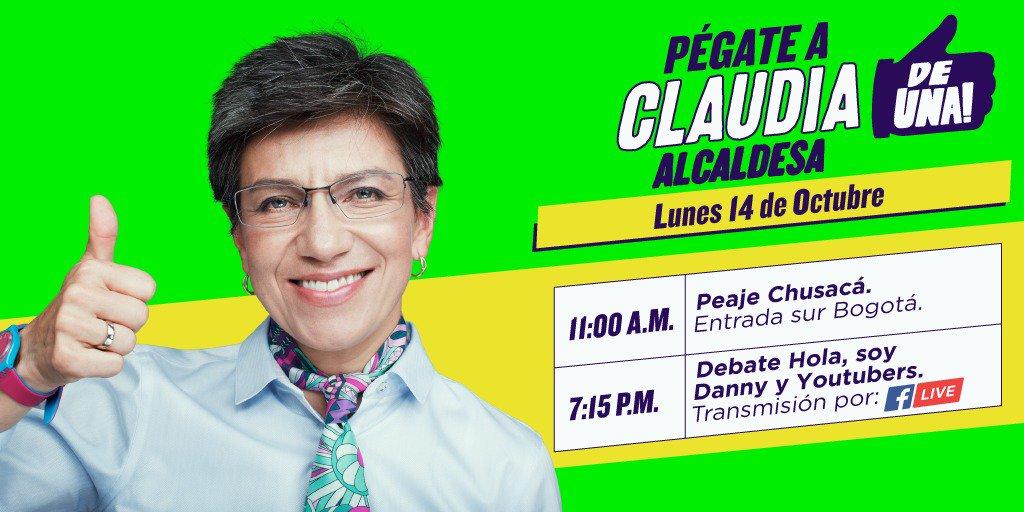 ¡Buenos días!☀️☀️☀️Hoy seguimos compartiendo ideas para devolverle la grandeza a nuestra Bogotá.¡Nos vemos en Chusacá y esta noche en el debate de #HolaSoyDanny!