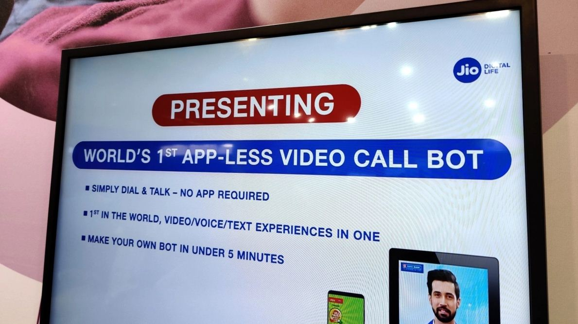 Jio unveils world's 1st Native Video Call Assistant (Bot) at IMC 2019
