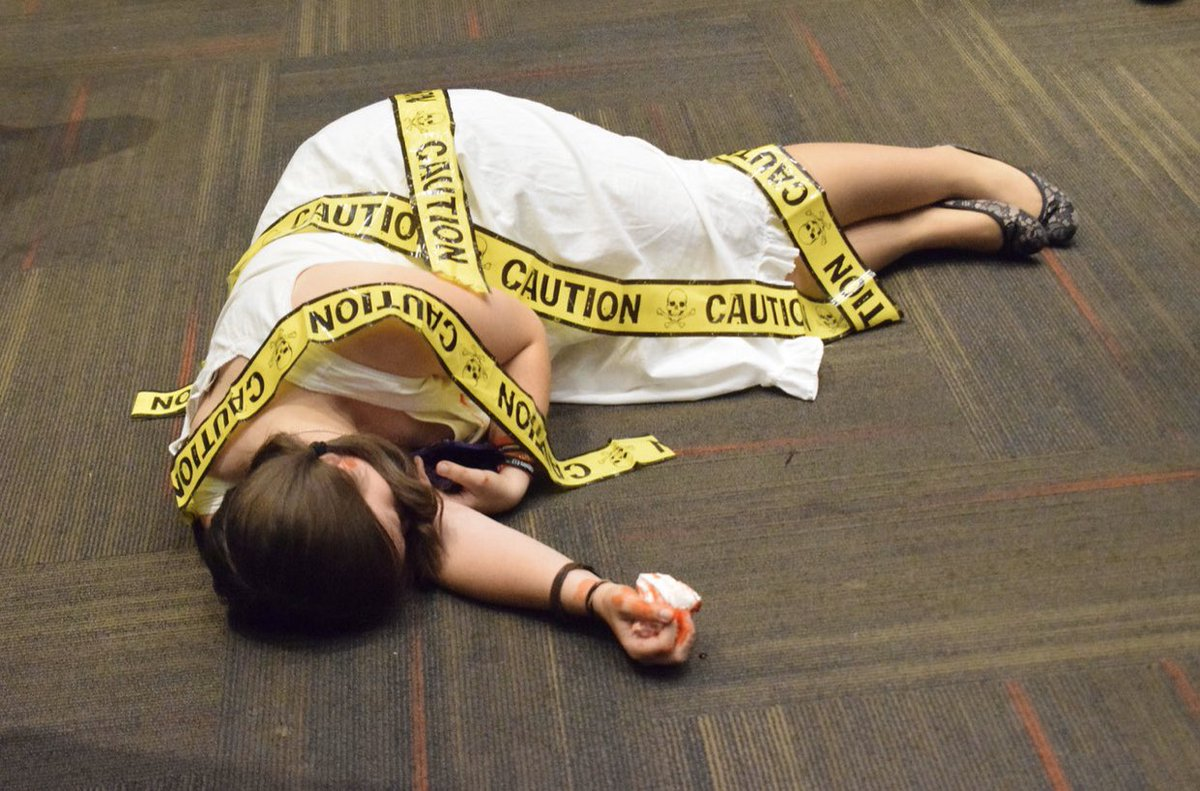 Don't forget, the deadline for signing up for Murder Mystery is this Wednesday at 5:00 p.m. and the sign up sheet is located outside Dr. Jones' office! The event will be held on October 30th at 7:00 p.m. in Faith Hall in Tucker. This year's theme is Happily Never After! <br>http://pic.twitter.com/P13EINLn6P – à Gardner-Webb University