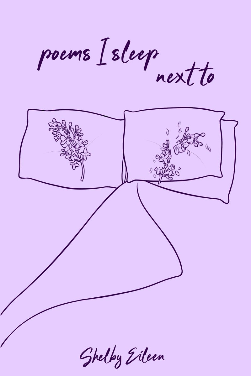 ✨ COVER REVEAL ✨ OK!!!!!! preorder link to follow within the next 72 hours and in the meantime, here's the cover for my next poetry collection titled POEMS I SLEEP NEXT TO 💜🥀🦋🌙☔️