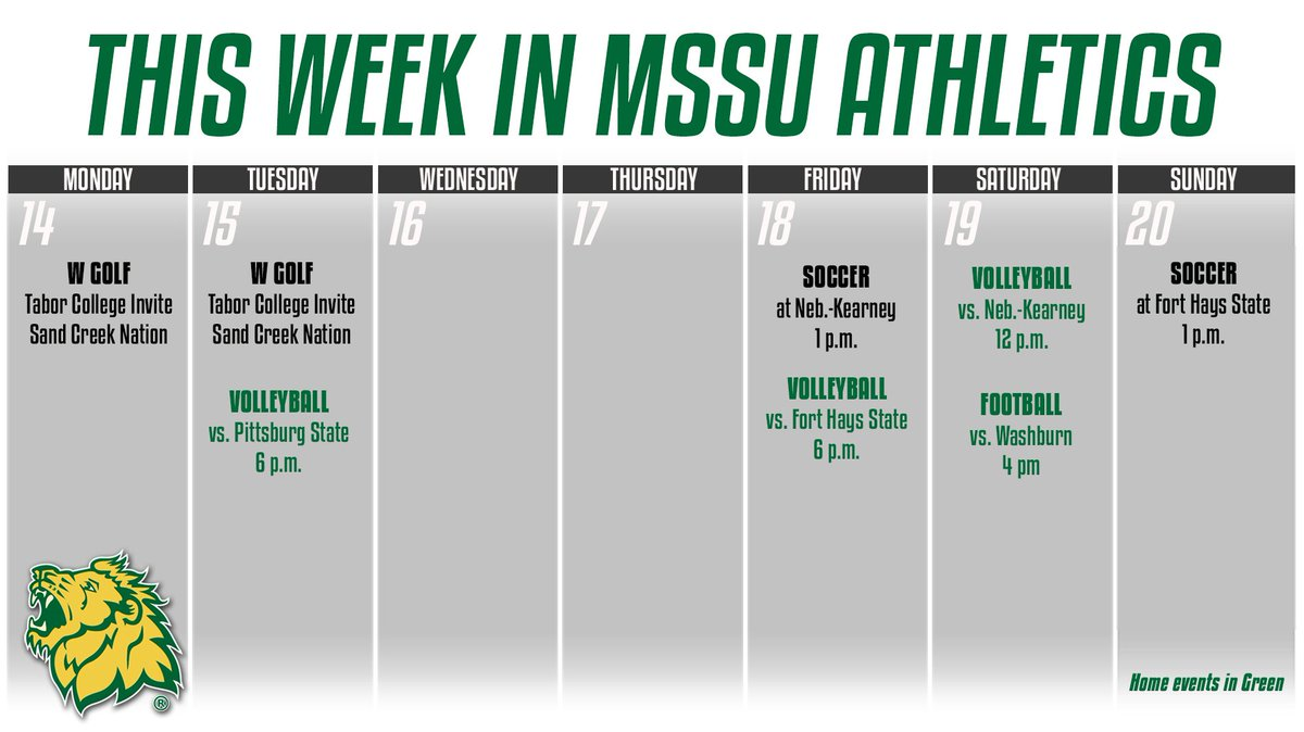 This week in MSSU Athletics <br>http://pic.twitter.com/WDcoUi4TUz