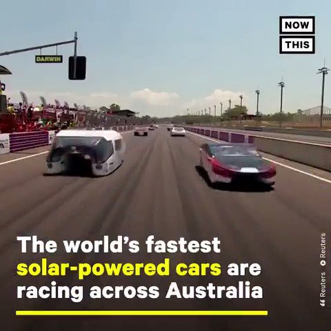 Image for the Tweet beginning: The world's fastest solar-powered cars