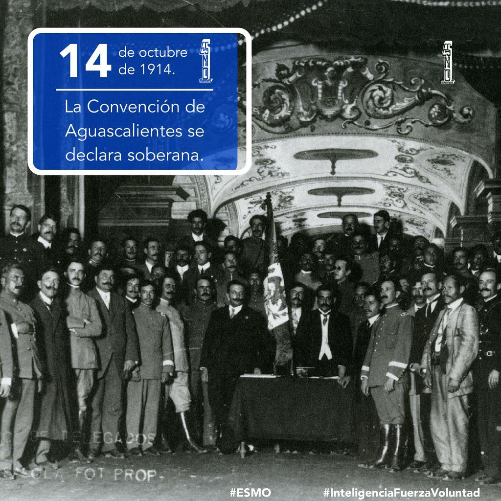 🗓 14 de octubre de 1914 🇲🇽.  La Convención de Aguascalientes se declara soberana.  #ESMO #InteligenciaFuerzaVoluntad #HacerHistoriaHacerFuturo #Atlixco #Puebla #México #NuevaEscuelaMexicana #educación #EducaciónBásica #AccionesPorLaEducación