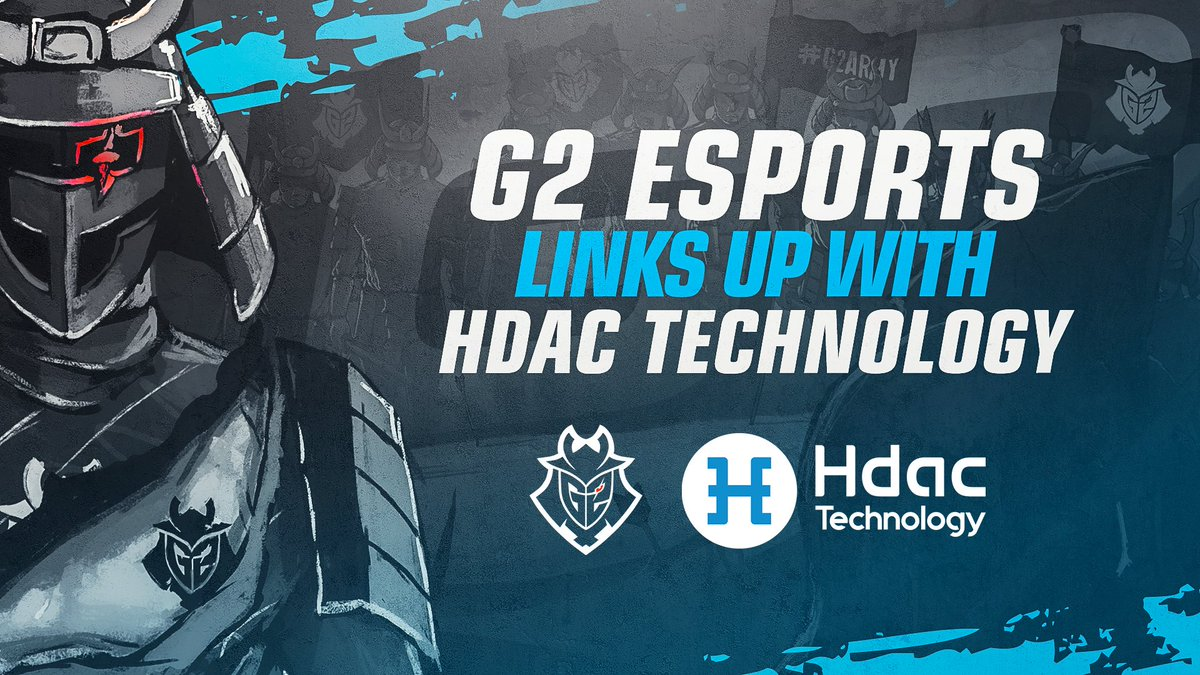"We're thrilled to announce a new partnership with @G2esports ! Stay tuned to broaden the new blockchain world with Esports industry, and welcome aboard ""THE NEW HDAC TECHNOLOGY""."
