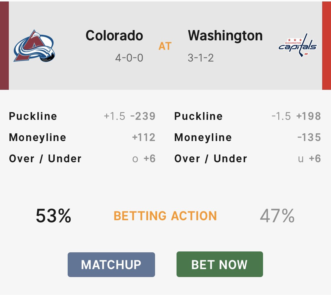 #NHL Tonight:   53% of the betting action at Sports Interaction like the #Avalanche over #Flyers  Here's our preview & prediction: