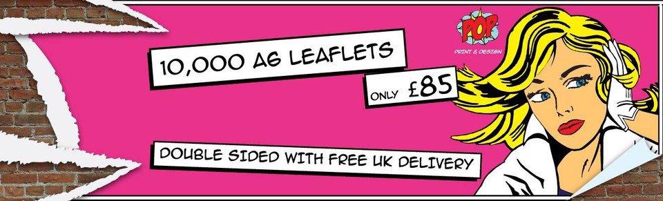 10,000 x A6 #LEAFLETS £85 on 130gsm art paper with free UK 🇬🇧 P&P 📦  info@popprintanddesign.co.uk  for more details #yorkshireis #sheffield #southyorksbiz #barnsley #flyers  #northwesthour #printing #manchester #leeds #yorkshire #huddersfield  #liverpool #flyers #print #york