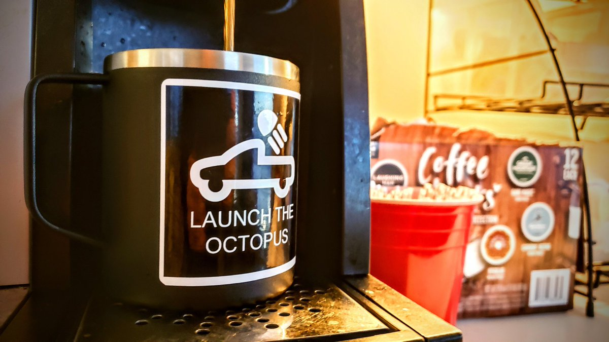 Third cup of coffee before 8:30 AM? Yeah, it's Monday all right. #launchtheoctopus