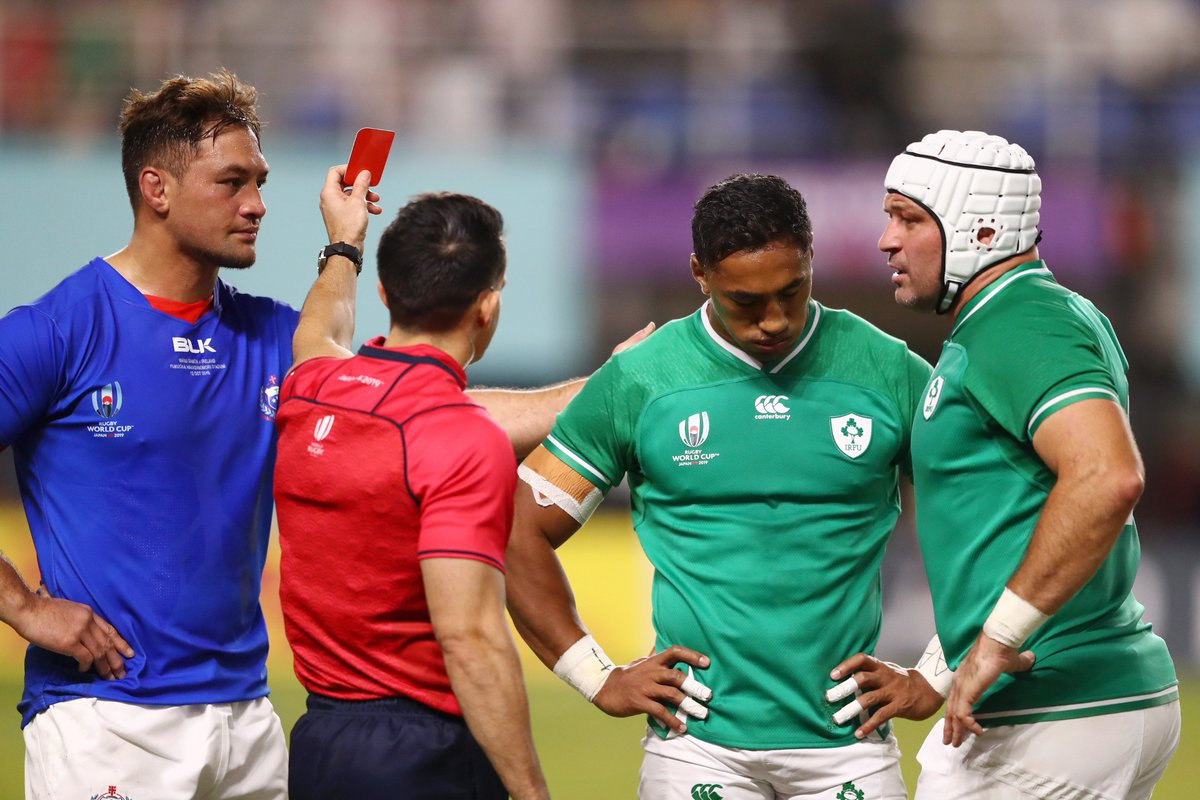 Ireland are now left with just 3⃣ centres for Saturdays quarter-final against the All Blacks in Tokyo: skysports.tv/pWT5GH