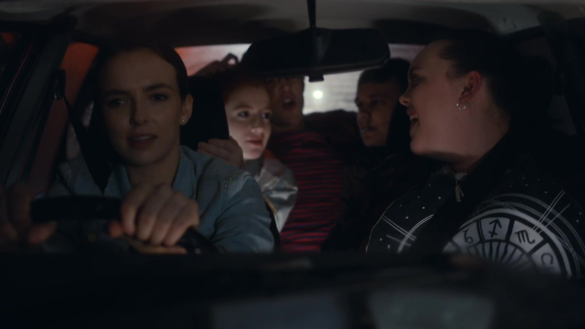 Chloe and Villanelle driving. #jodiecomer
