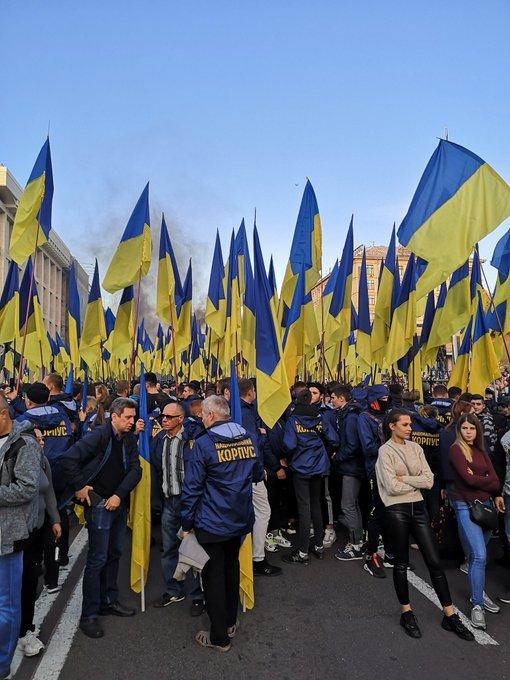 Баннер Free Markiv вывесили на здании главного управления Нацполиции - Цензор.НЕТ 4710
