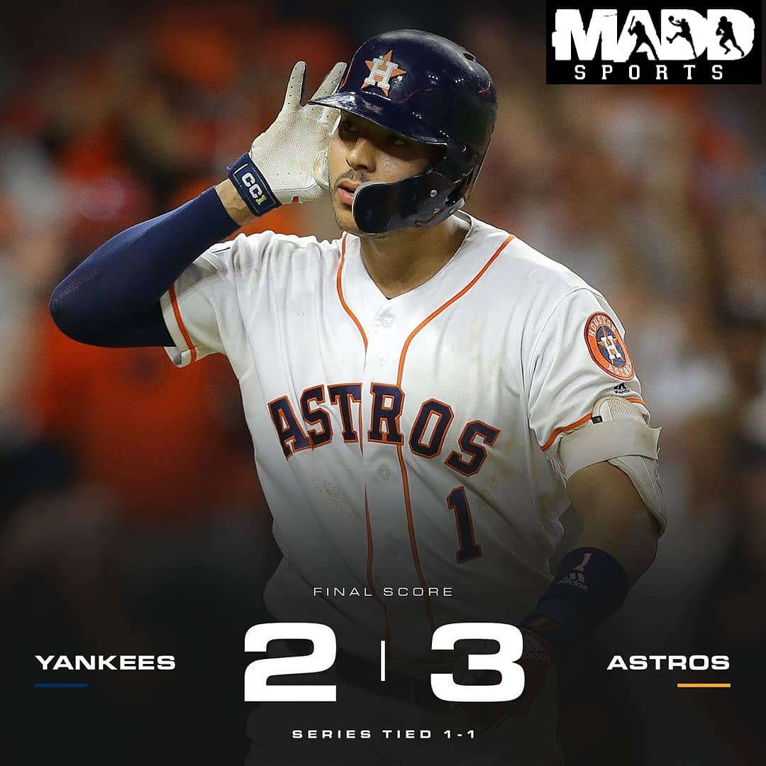 Carlos Correa with the walk off HR for the win last night in Houston. Series is tied 1-1 headed to New York. #octoberbaseball #mlbpostseason #mlbplayoffs2019 #sportsTalk #SmackTalk #NFL #NBA #NCAA #MLB #Fun #Youtube #instagram #Twitter #Facebook #TVShow #409ThaHeatSports