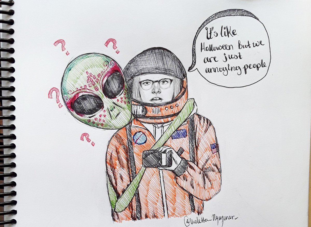 #inktoberday8: alien Bro Atozy actually saw my shit and I'm going crazy. idk if I should tag him again like is that weird???? #StormArea51 <br>http://pic.twitter.com/jit9KTcwdO