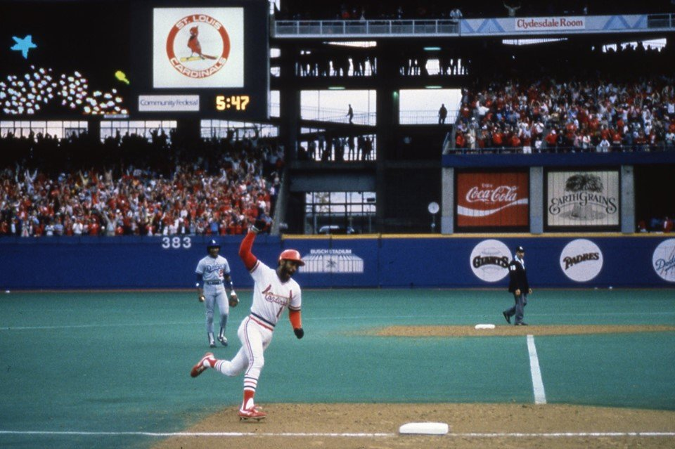 """#OTD 1985 - """"Smith corks one into right, down the line! It may go! Go crazy, folks! Go crazy! It's a home run! And the Cardinals have won the game…by the score of 3-2…on a home run by the Wizard! Go crazy!"""" #STLCards #TimeToFly"""
