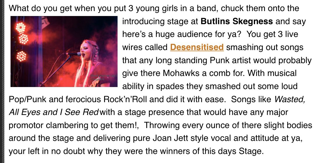 What a brilliant review! Thank you @thepunksite ❤️ #livemusic #newmusic