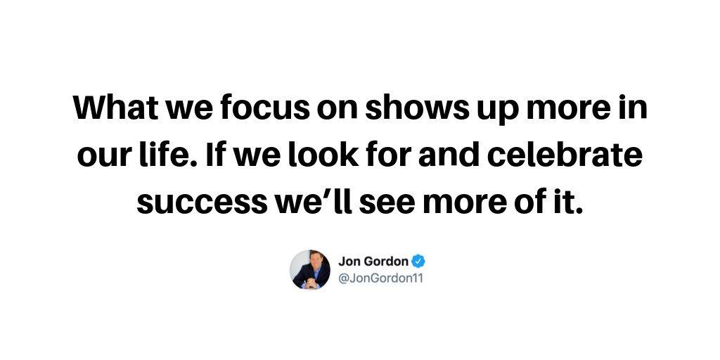 Celebrate Success | Read this week's Positive Tip Newsletter -> jongordon.com/newsletter