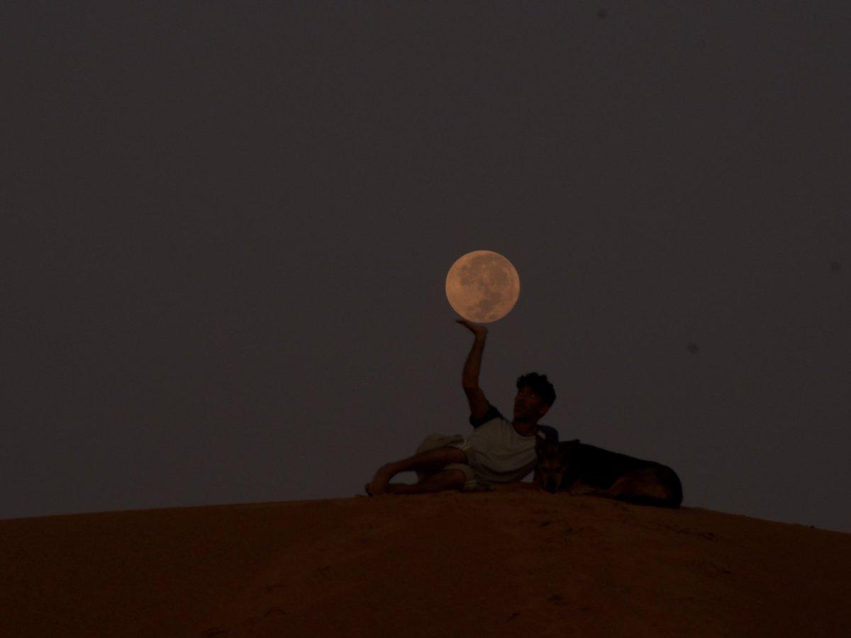 今朝の話になりますが、お月さんが明るく丸かったので。