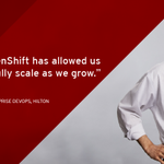 Image for the Tweet beginning: .@HiltonHotels chose #RedHat @OpenShift to