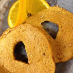 Thanksgiving Breakfast 'a la Solly's..Toasted (Always Vegan) Pumpkin Bagels!