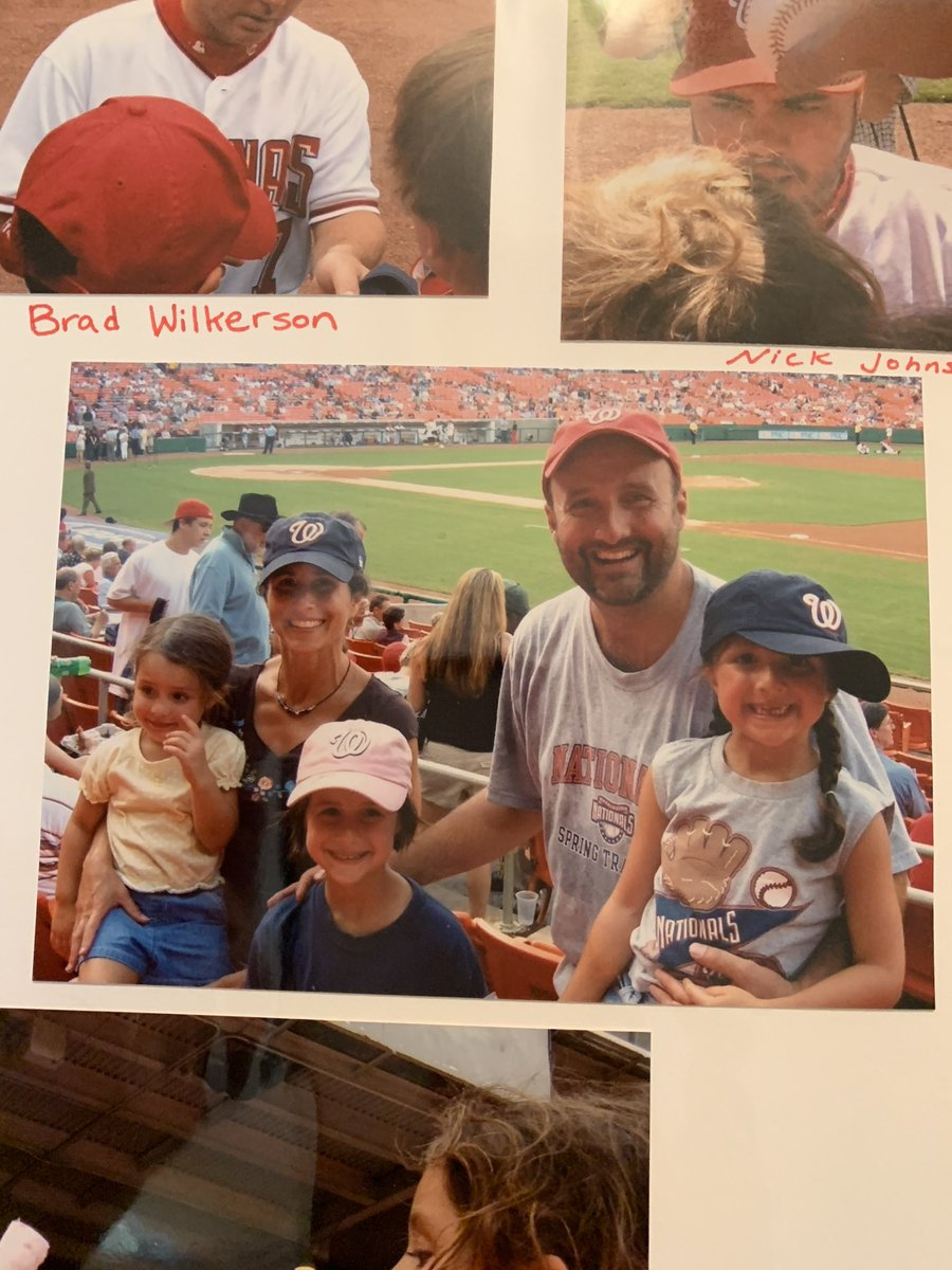 """Love that @alyssa__denton came home for #Nats tonight. Remembering our first 2005 season.  She worked to get all the good autographs on her old pink @Nationals cap. Nick Johnson was her fave besides """"The Chief,"""" Jamey Carroll and that new kid from UVA, Zimmerman. #STAYINTHEFIGHT"""