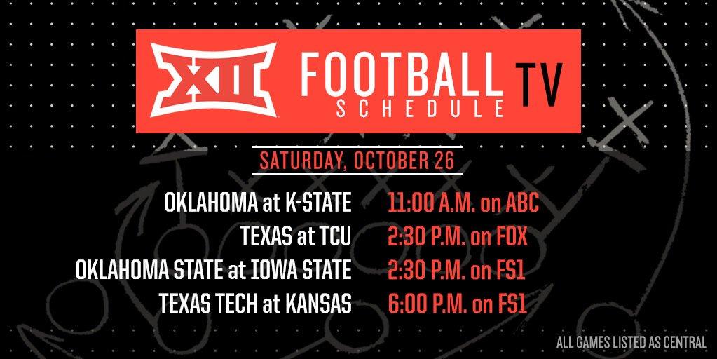Oklahoma To Play 5th-Straight 11 AM Game Next Saturday
